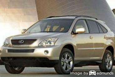 Insurance rates Lexus RX 400h in Durham