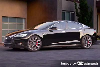 Insurance quote for Tesla Model S in Durham