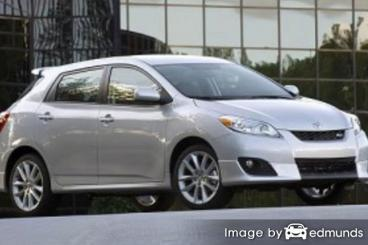 Insurance rates Toyota Matrix in Durham